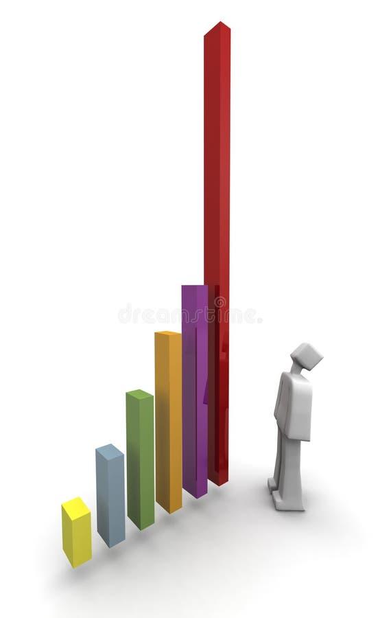 finansiella positiva resultat för diagram royaltyfri illustrationer