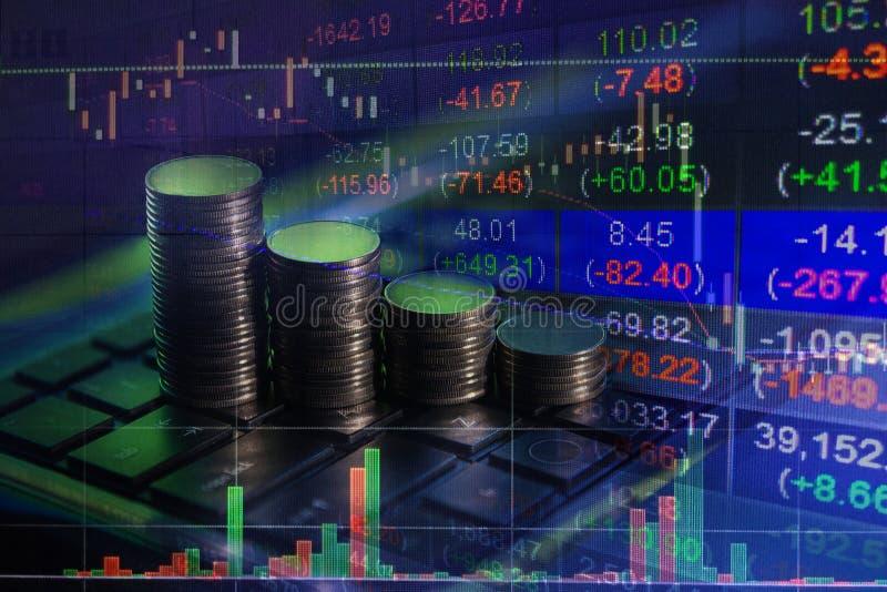 Finansiellt aktiemarknadutbyte, backgro för begrepp för affärsrapport royaltyfri fotografi