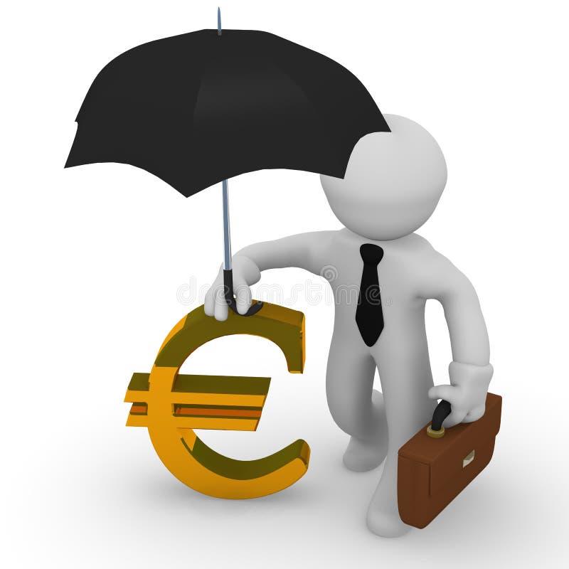finansiellt begrepp 3d royaltyfri illustrationer