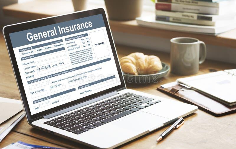 Finansiellt begrepp för allmän olycka för försäkring vård- royaltyfri foto