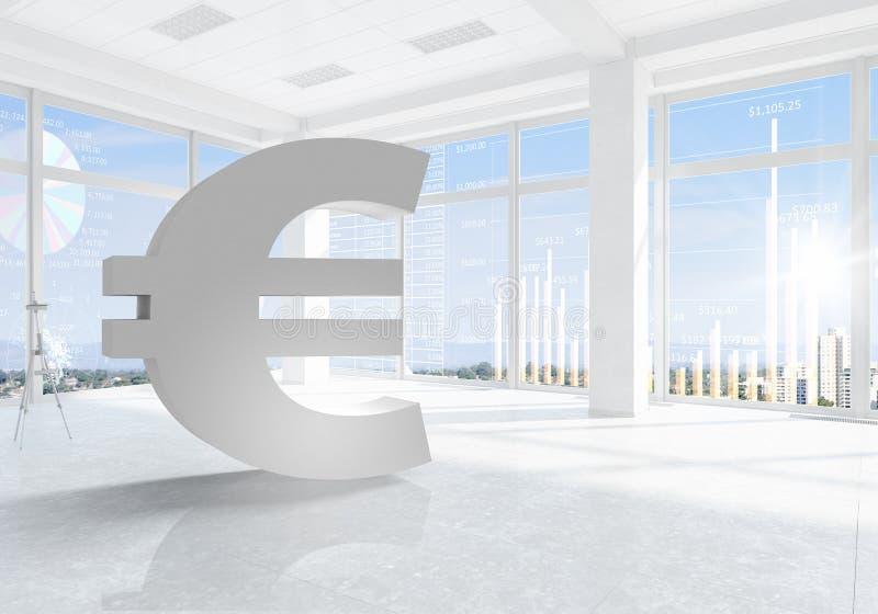 Finansiellt begrepp för euro vektor illustrationer