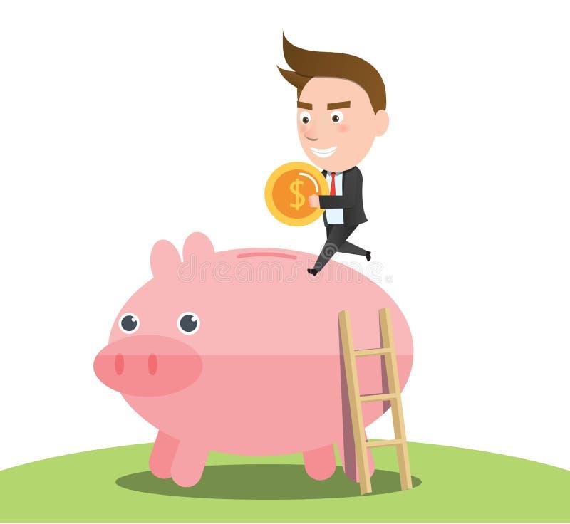 Finansiellt begrepp för roligt plant tecken royaltyfri illustrationer