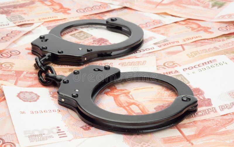 Finansiellt brott royaltyfria foton