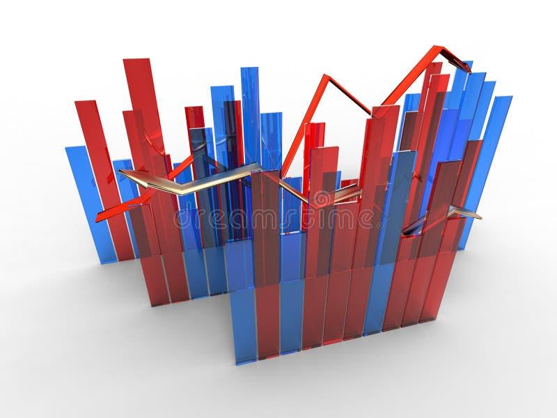 finansiellt diagram vektor illustrationer