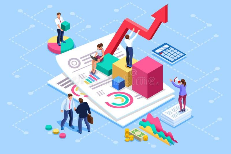Finansiellt konsulterande mötebegrepp för administration och för revision royaltyfri illustrationer