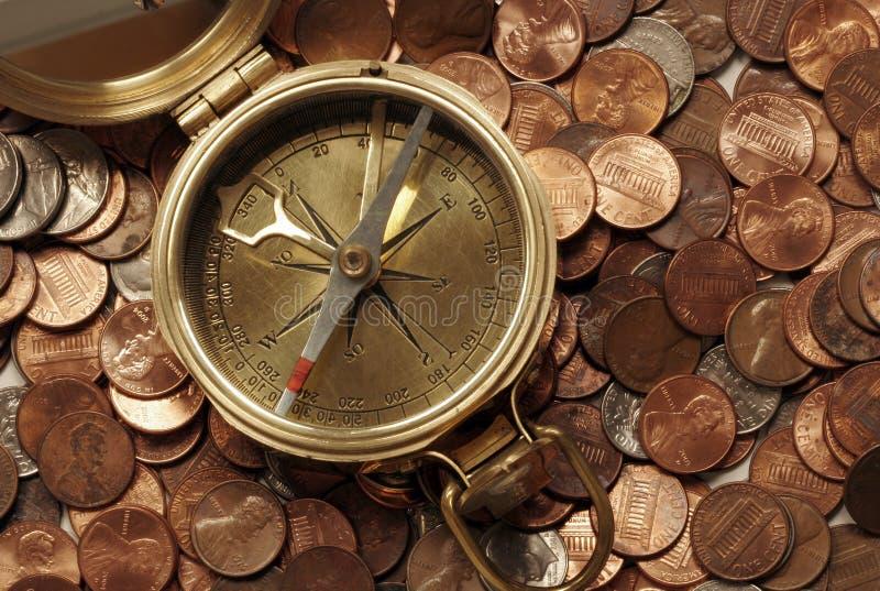 finansiellt navigera vatten arkivbild