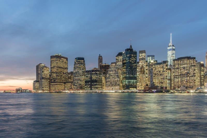 Finansiellt område för Manhattan ` s, NYC arkivbilder