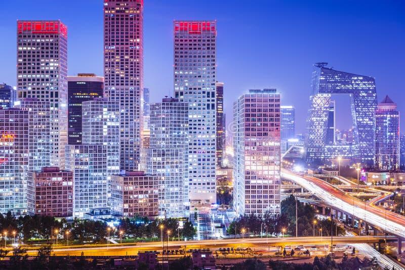 Finansiellt område för Peking arkivbild