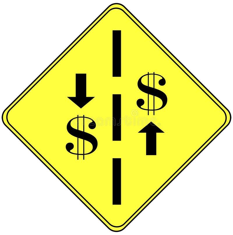 finansiellt tecken royaltyfri illustrationer