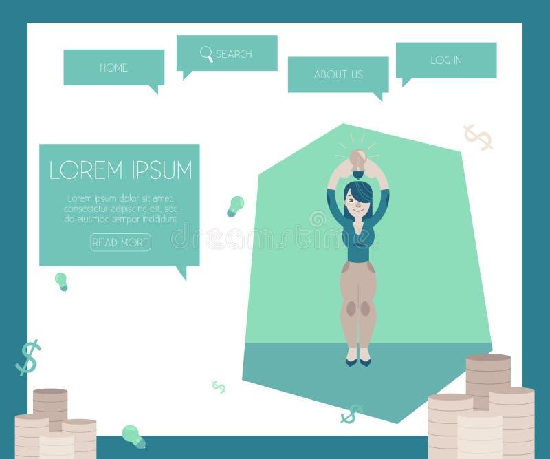 Finansiera nytt projekt och startbegrepp på websiten söka mallen med buntar av mynt vektor illustrationer