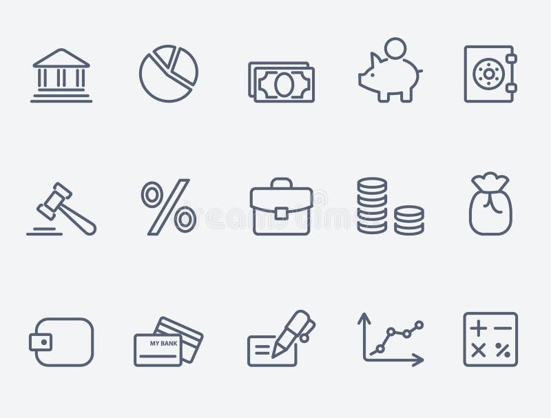 finansiera symboler royaltyfri illustrationer
