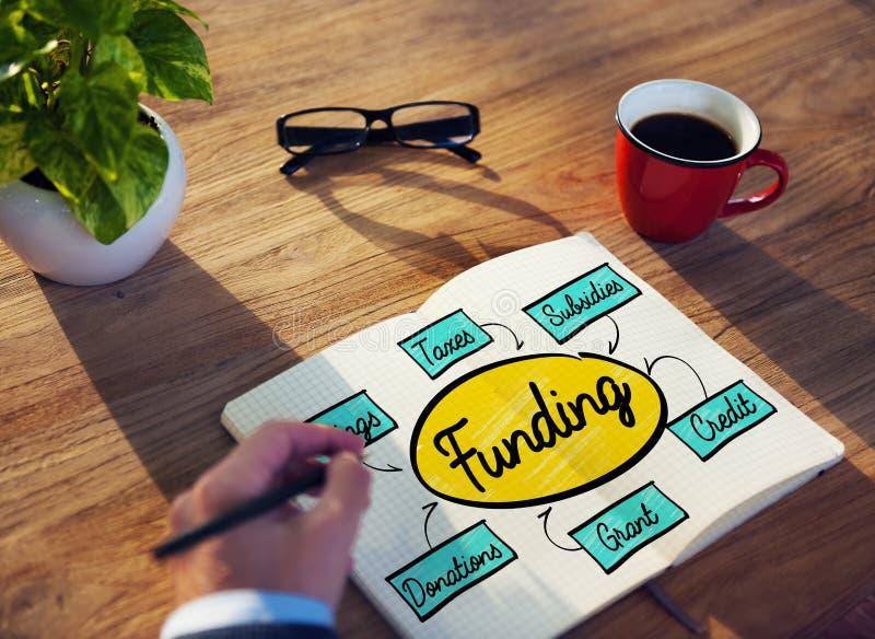 Finansiering Grant Donation Diagram Concept arkivbilder