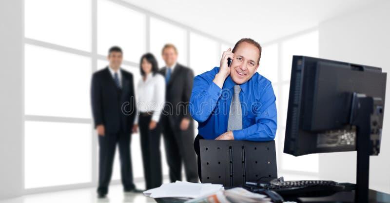 finansmän utför service ditt arkivbild
