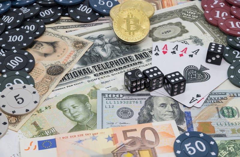Finansmarknader - investering eller vågspel arkivfoto