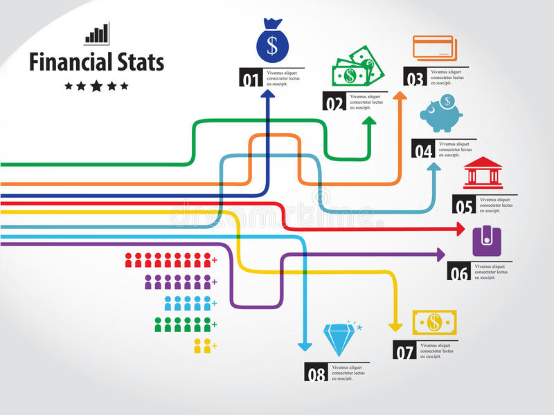 Finansowa grafika ilustracja wektor