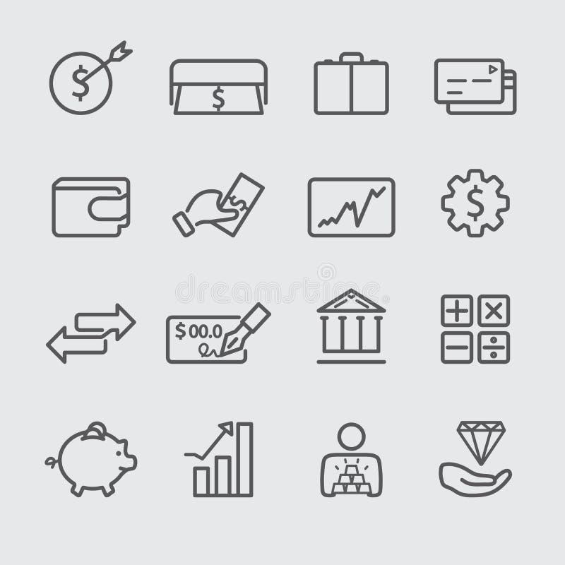 Finansowa kreskowa ikona ilustracja wektor