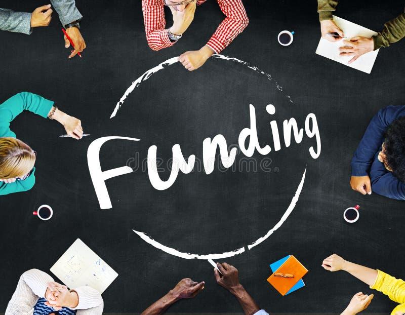 Finansowanie darowizny budżeta kapitału Inwestorski pojęcie obraz royalty free
