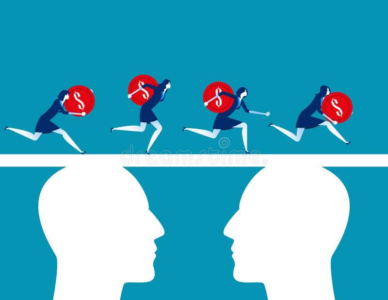 finansowanie Ludzie biznesu zespalają się finansowanie Pojęcie biznesowa wektorowa ilustracja, Płaski biznesowy charakter, kreskó ilustracji