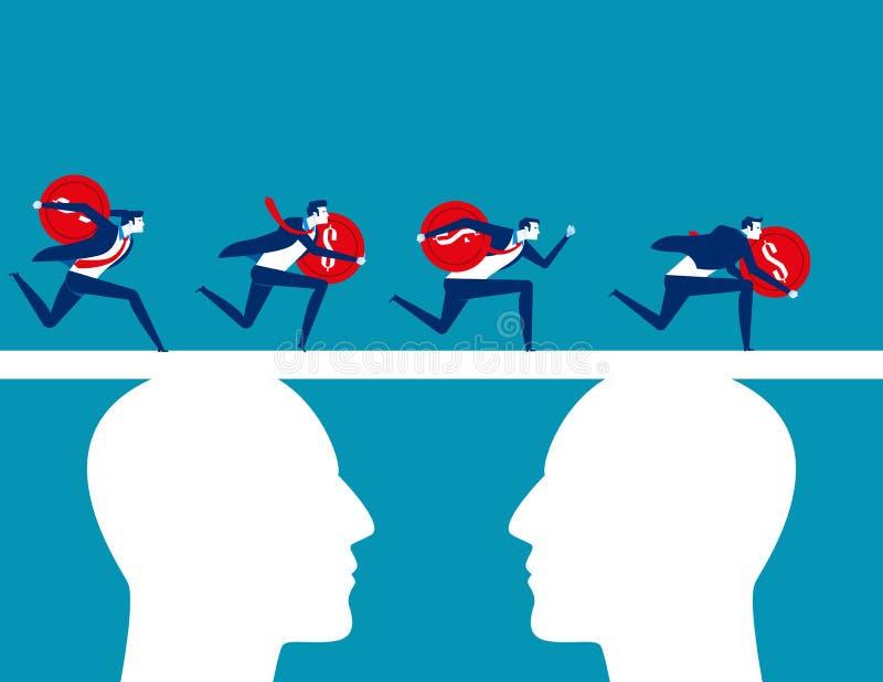 finansowanie Ludzie biznesu zespalają się finansowanie Pojęcie biznesowa wektorowa ilustracja, Płaski biznesowy charakter, kreskó ilustracja wektor