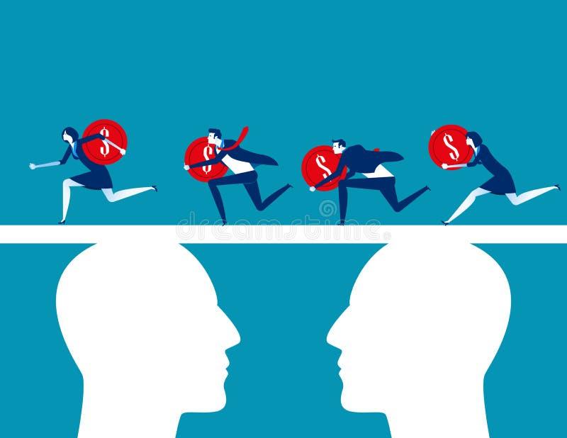 finansowanie Ludzie biznesu zespalają się finansowanie Pojęcie biznesowa wektorowa ilustracja, Płaski biznesowy charakter, kreskó royalty ilustracja