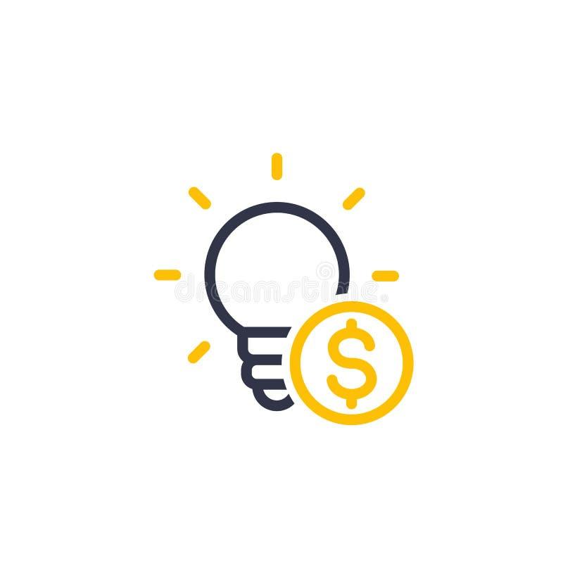Finansowanie nowy produkt, nasieniodajnego kapitału ikona royalty ilustracja