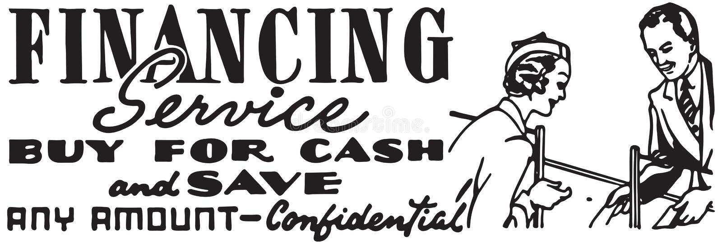 Finansowanie usługa ilustracja wektor