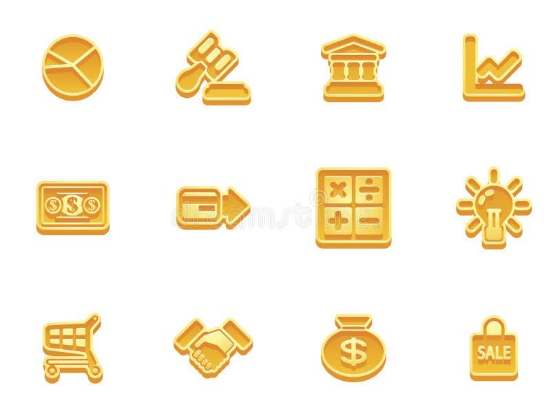 finansowe biznes ikony ilustracji