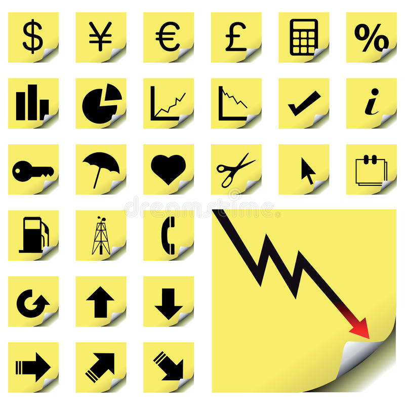 finansowe ikony ilustracja wektor