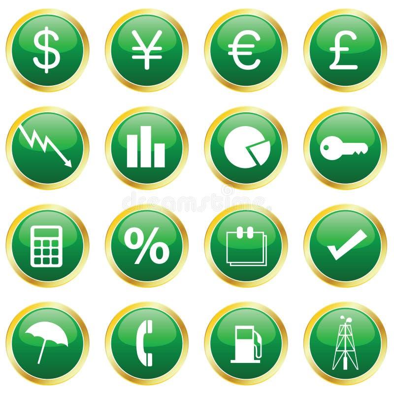 finansowe ikony ilustracji