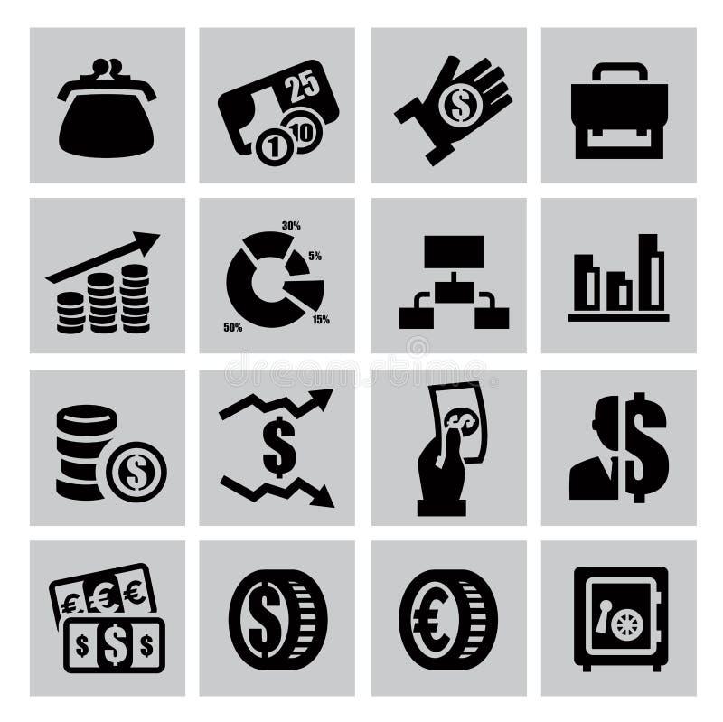 Finansowe ikony royalty ilustracja