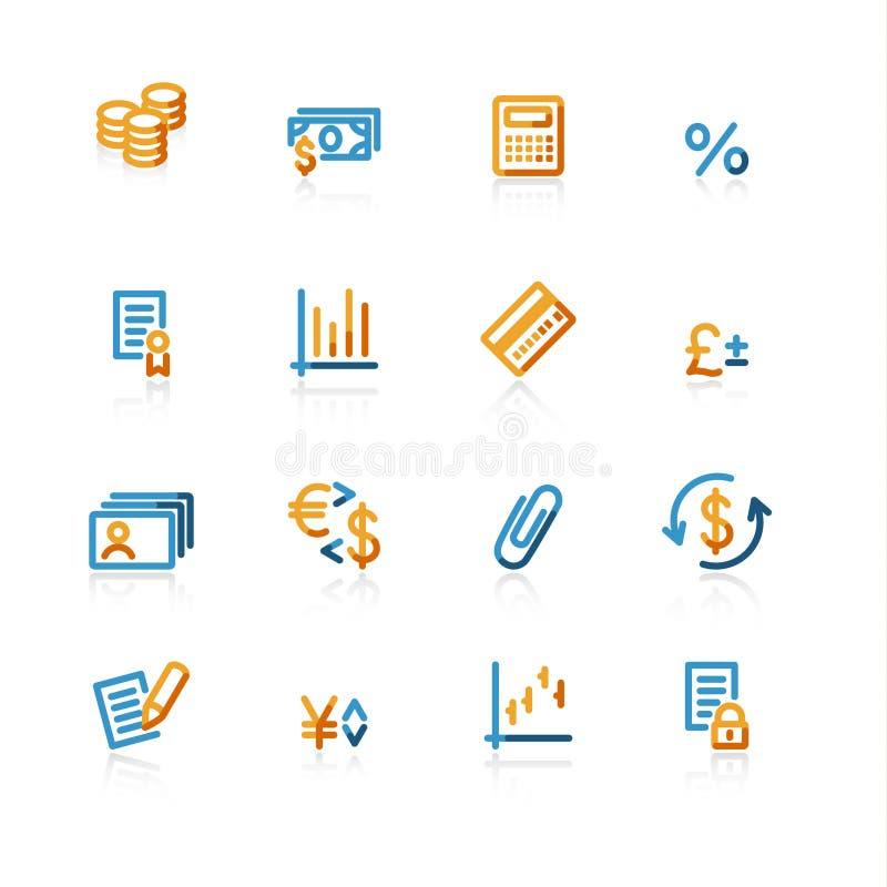 finansowe konturowe ikony ilustracja wektor