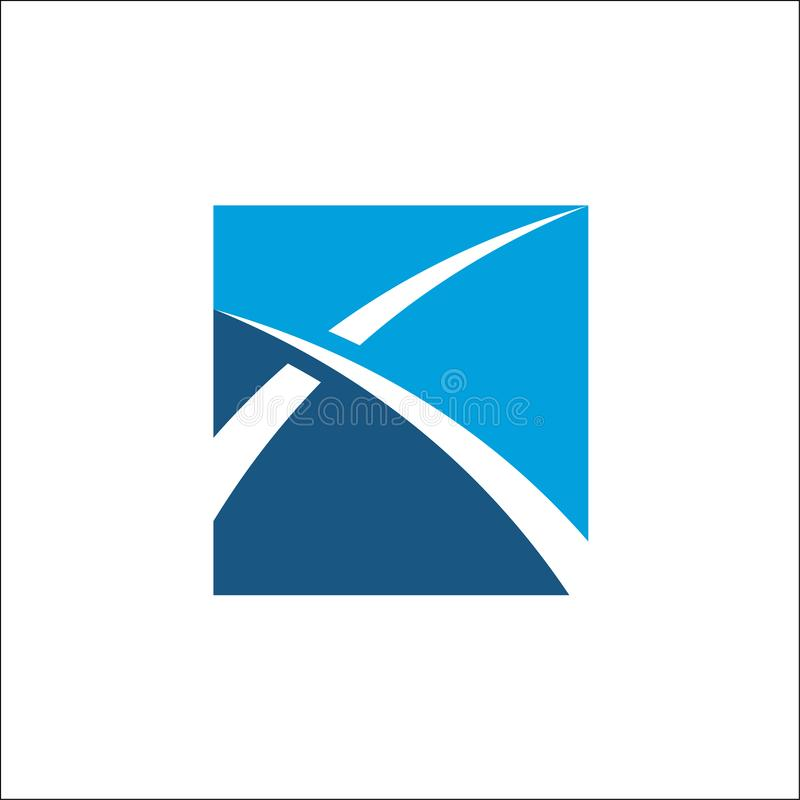Finansowego logo wektorowy abstrakcjonistyczny szablon ilustracja wektor