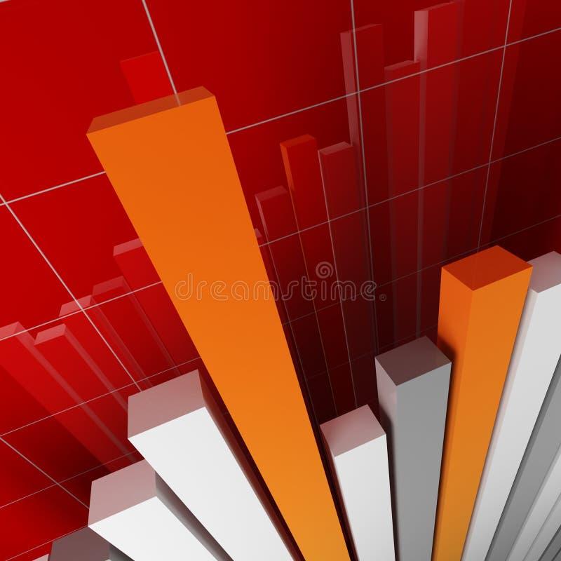 finansowego tła stat ilustracji
