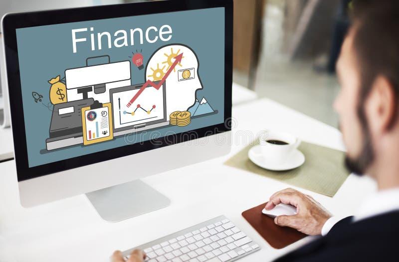 Finansowego zysku finansowania wartości Inwestorski pojęcie fotografia stock