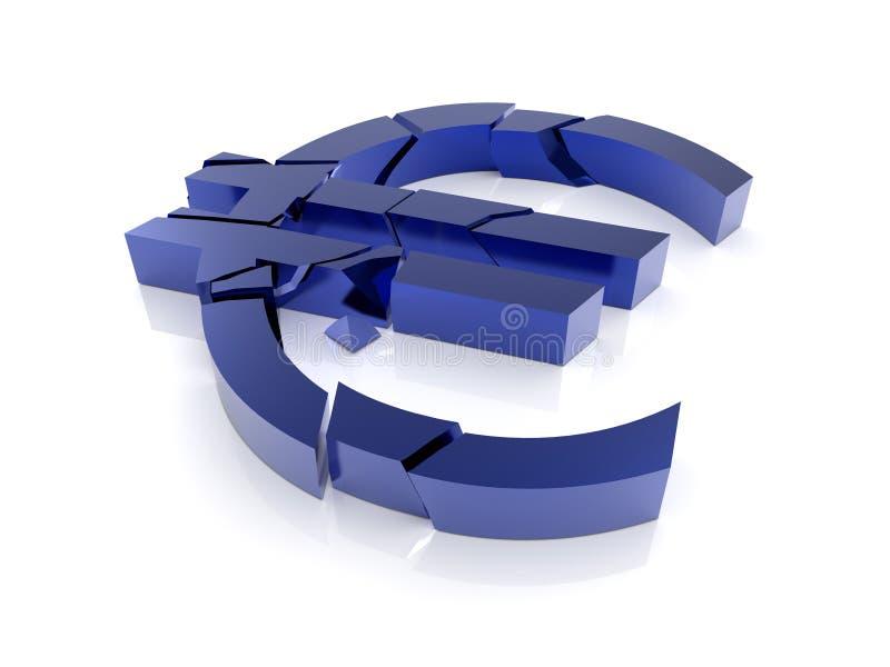 Finansowy euro Kryzys ilustracji