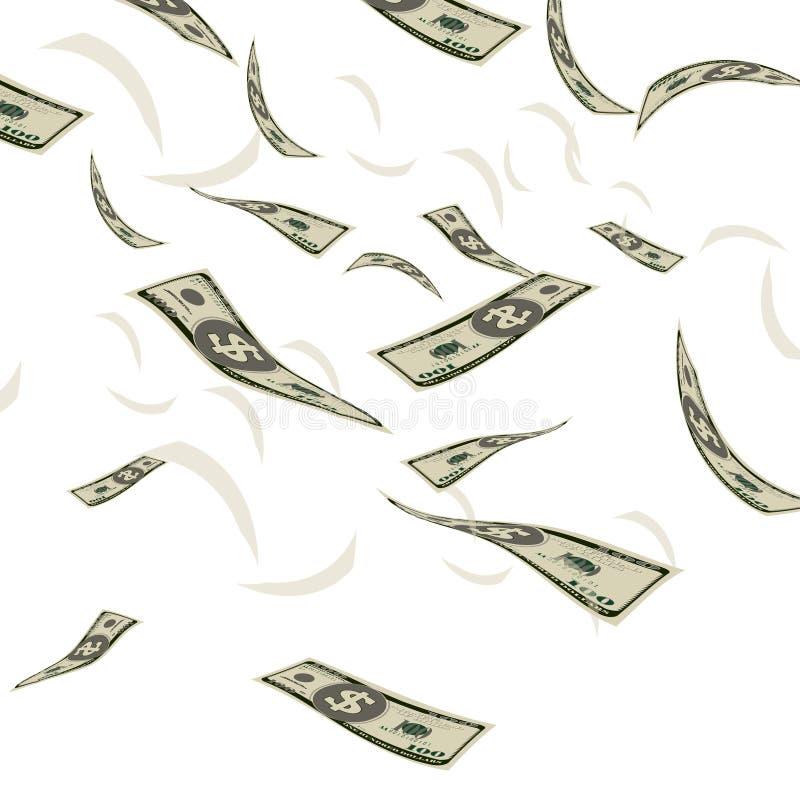 Finansowy gotówkowy dolarowego rachunku przepływu waluty pojęcia tła wektor royalty ilustracja