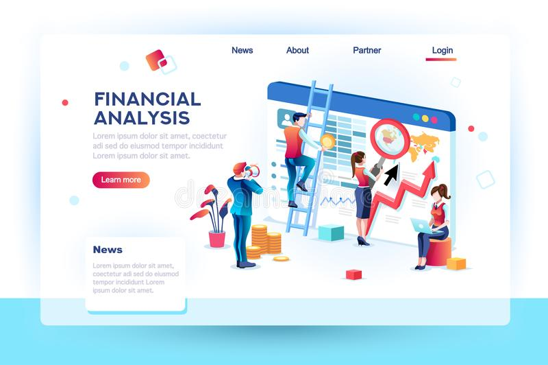Finansowy Infographic analityka socjalny pojęcie royalty ilustracja