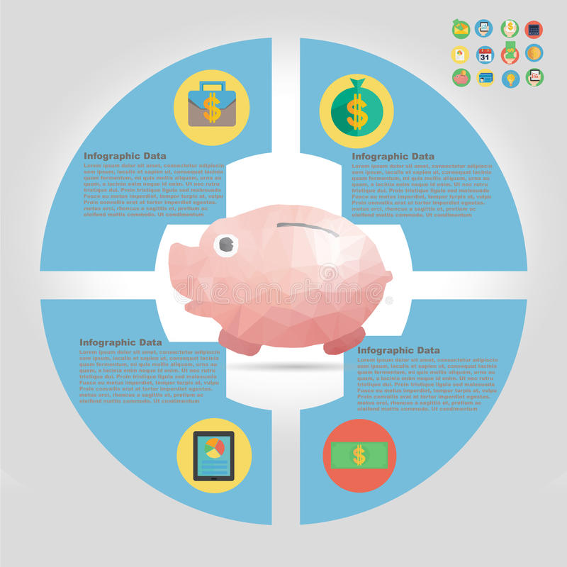 Finansowy infographic element obrazy royalty free
