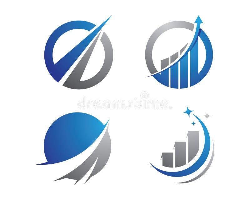Finansowy logo royalty ilustracja