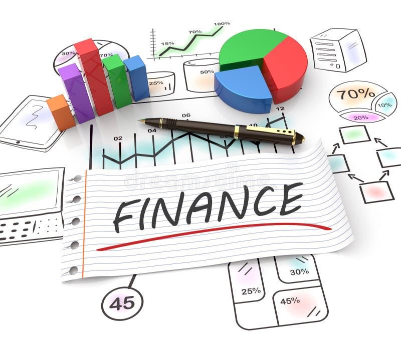 Finansowy pojęcie ilustracji