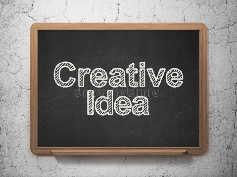 Finansowy pojęcie: Kreatywnie pomysł na chalkboard tle zdjęcie royalty free