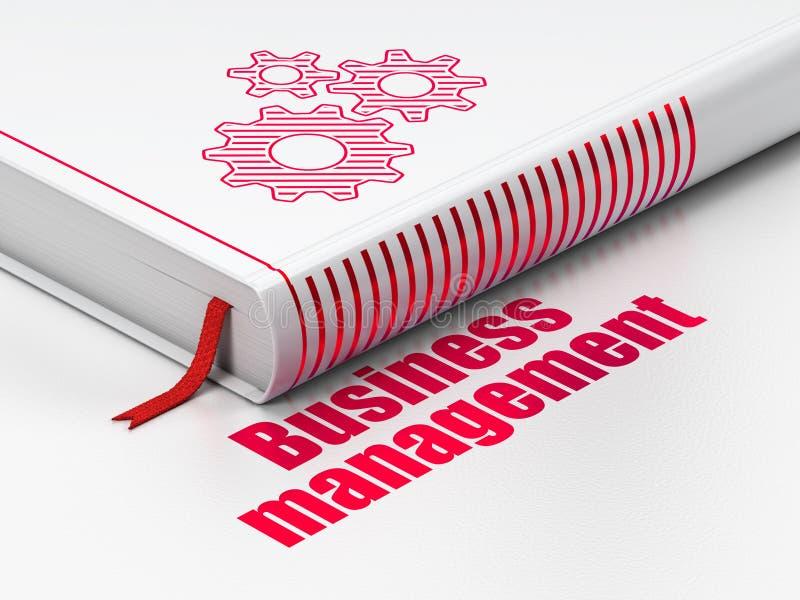 Finansowy pojęcie: książek przekładnie, zarządzanie przedsiębiorstwem na białym tle fotografia stock