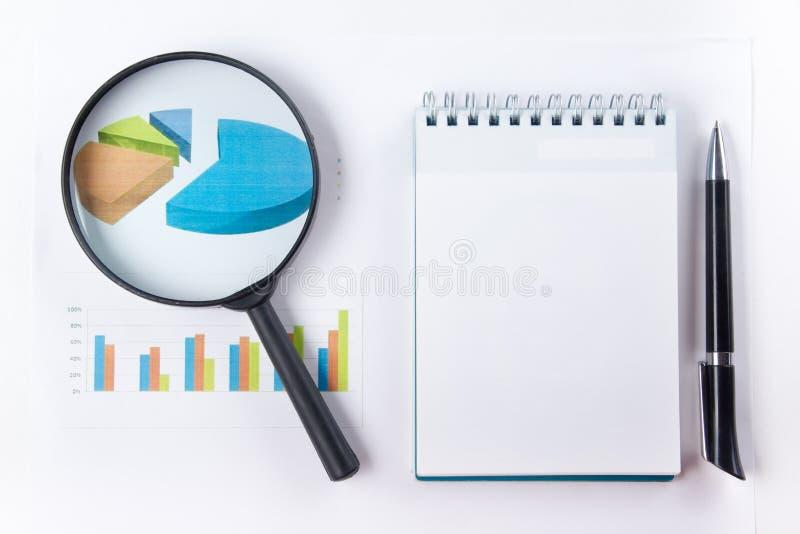 Finansowy pojęcie - Pieniężnej księgowości zapas obrazy stock