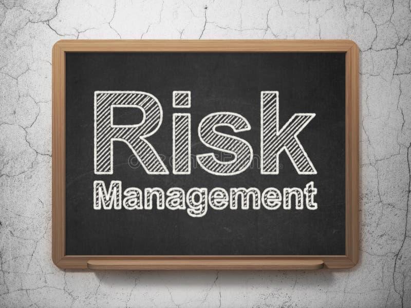 Finansowy pojęcie: Zarządzanie Ryzykiem na chalkboard royalty ilustracja