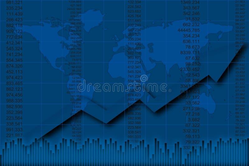 finansowy raport ilustracji