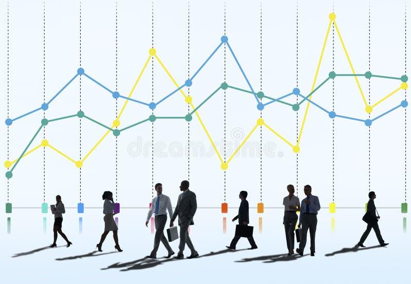 Finansowy Raportowy księgowość statystyk biznesu pojęcie obrazy royalty free