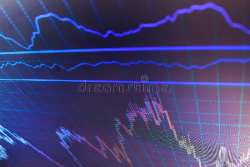 Finansowy rynek papierów wartościowych inwestyci handel obrazy stock