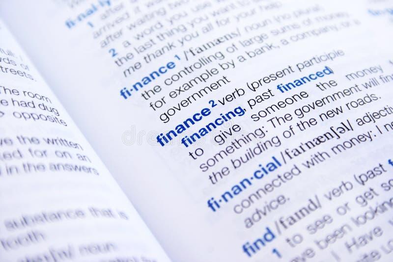 finansowy słowo zdjęcia stock
