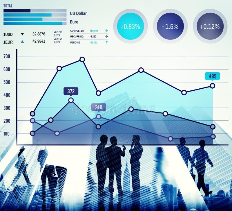 Finansowy Wzrostowy Biznesowy Marketingowy sukces analizy pojęcie zdjęcie royalty free