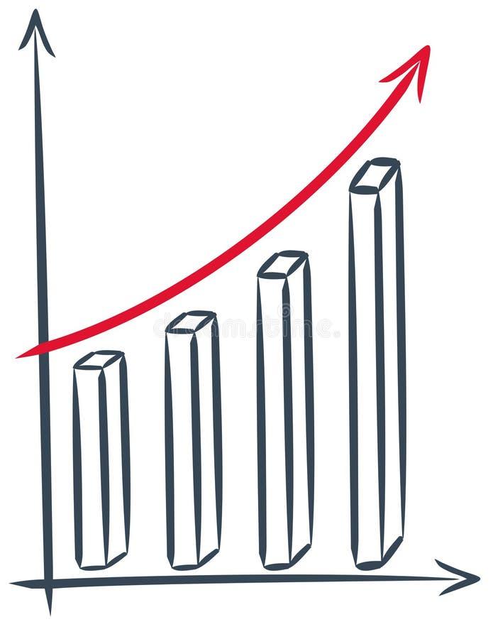 finansrapport stock illustrationer